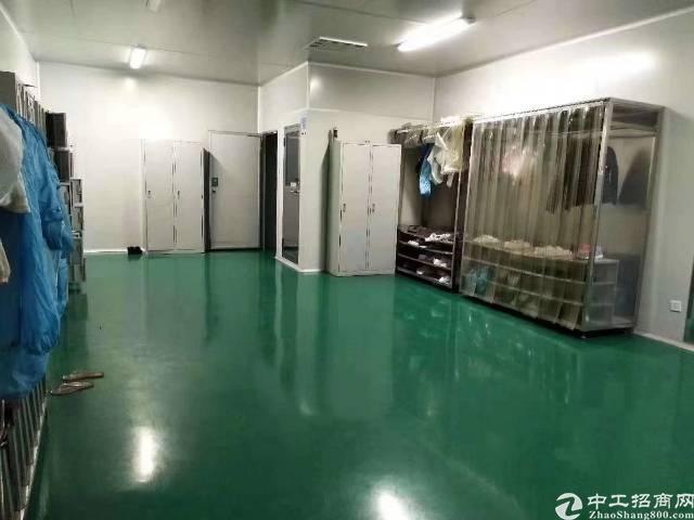 深圳石岩石龙仔德政路楼上带装修无尘车间1800平米26元出租