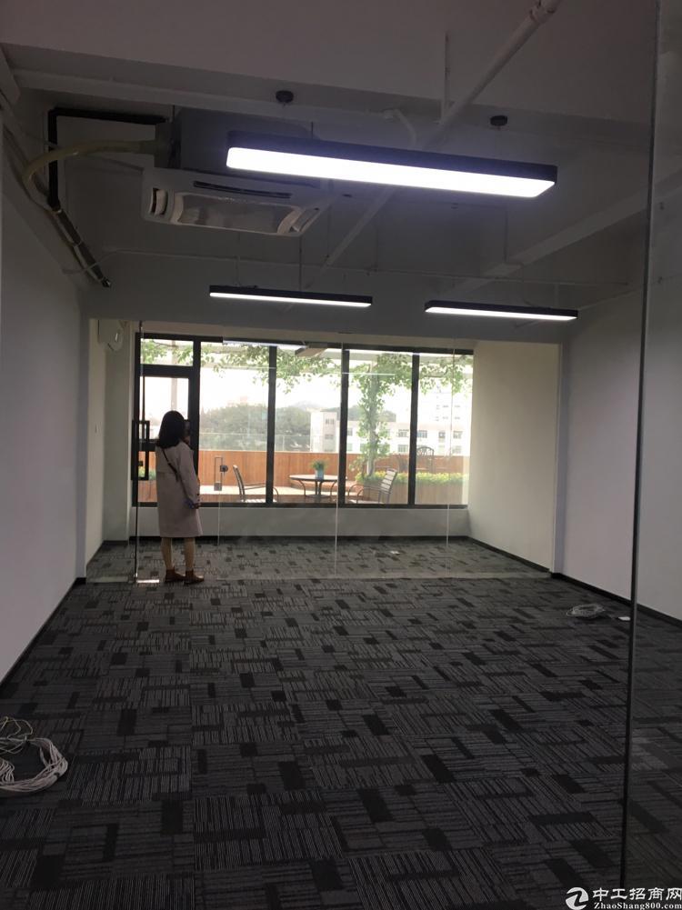 福永桥头地铁口精装修写字楼116平方带隔间