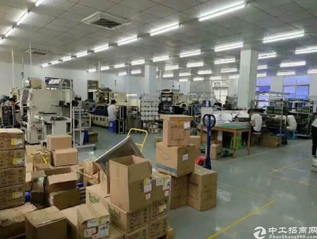 龙岗宝龙红本高新技术工业园区一楼1500平方精装修厂房可分租