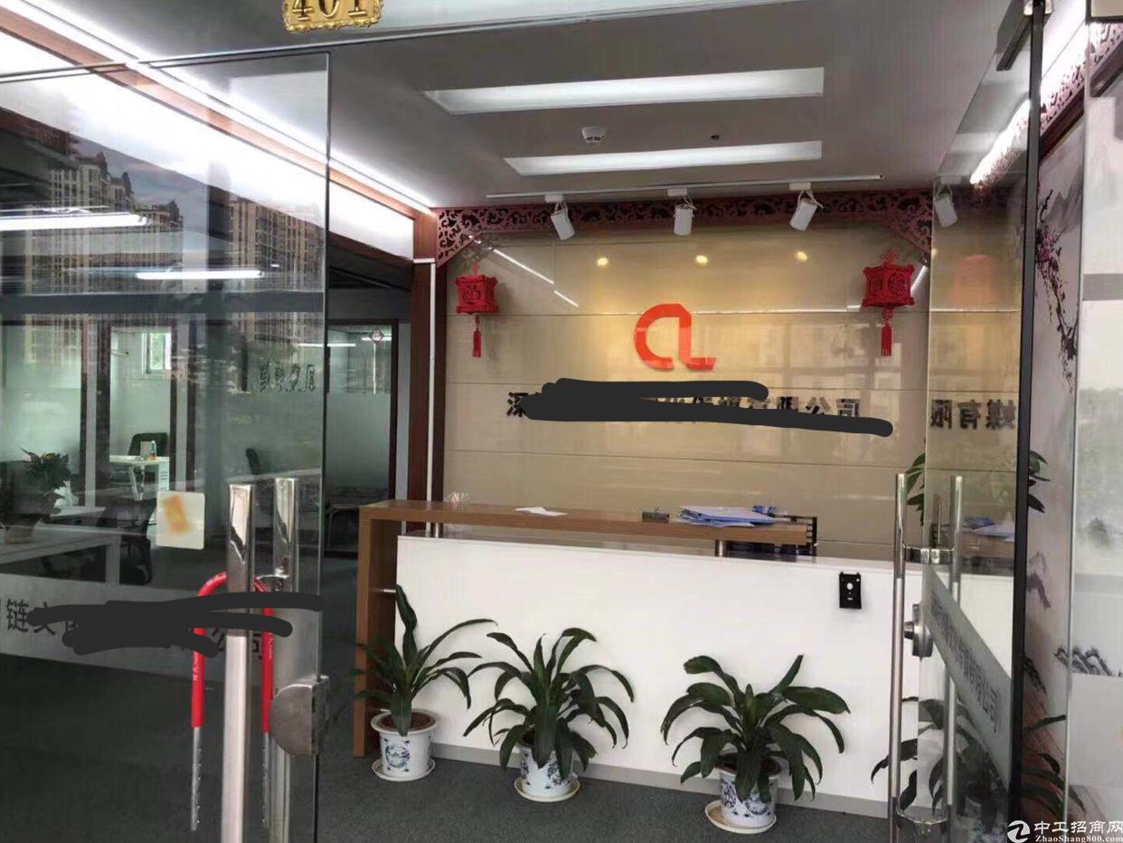龙华深圳北站附近精装修500平写字楼出租,直接可使用