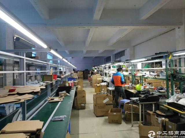 沙井南环路边750平米带装修厂房出租