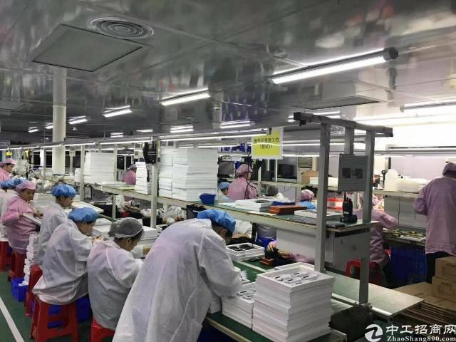 西乡九围富源工业城新出楼上3600平万级无尘车间出租