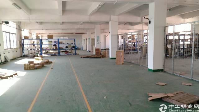 松岗中学附近大田洋新出楼上带装修厂房整层1600平房东出租