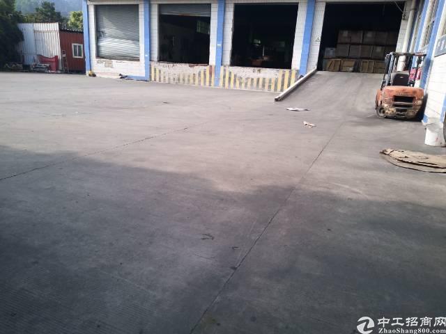 石岩料坑带卸货平台8米高钢构仓库物流11500平招租