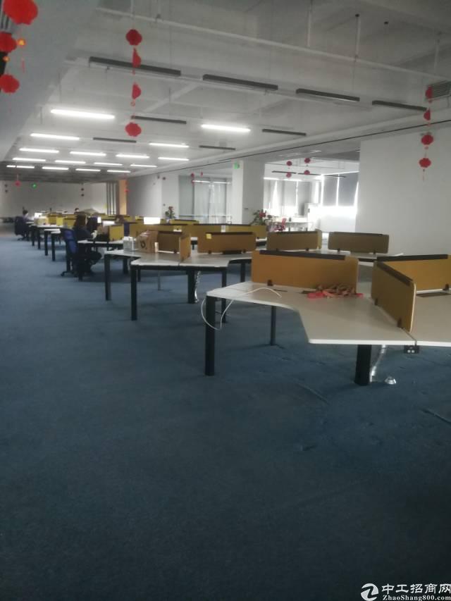 横岗永湖地铁口附近楼上带精装修2300平米标准厂房招租