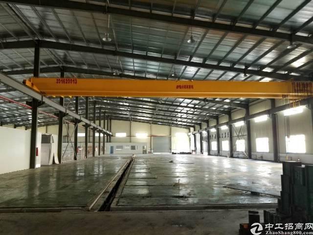 横沥镇钢构长房滴水9米,带现成7部航车厂房招租-图2