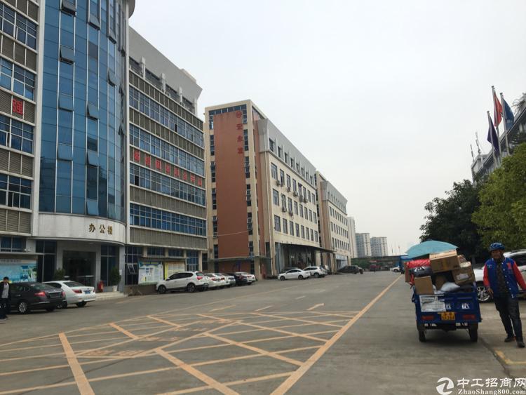 松岗高速出口主干道边原房东自建工业园楼上层2300平米招租