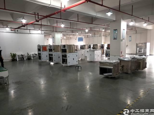 深圳沙井新桥高速出口附近新出装修800平厂房出租