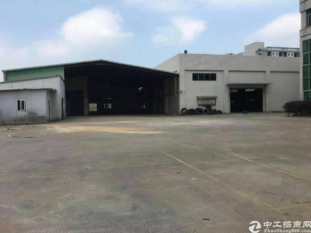 沙井高速出口旁8000平米独院钢构厂房出租