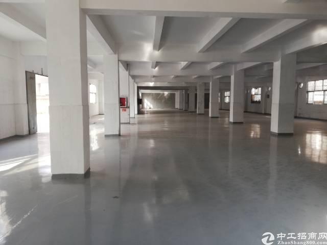 沙井上星107国道旁新出一楼五米高1380平厂房出租