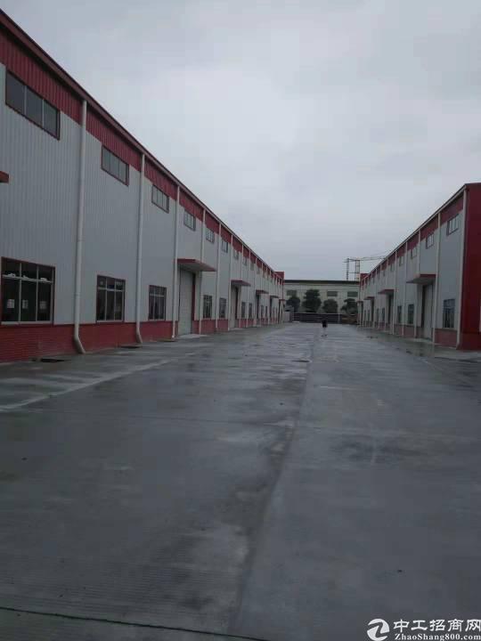 中堂工业区钢构厂房。