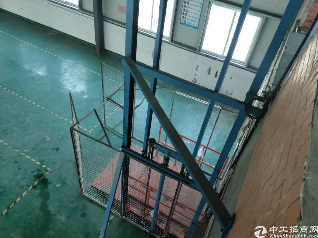 西乡鹤州洲石路边上新出路楼上1300平带豪华装修钢构厂房出租