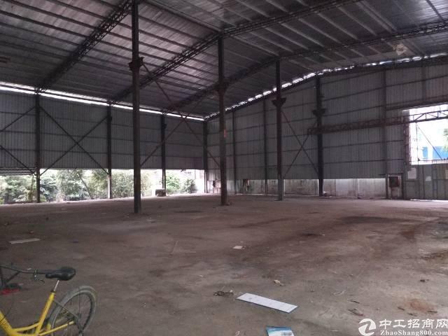 深圳沙井沙头主干道边上新出1200钢构厂房出租