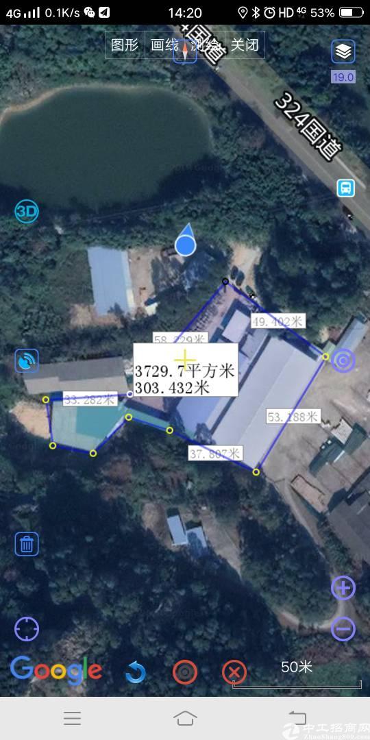 博罗县龙华镇小独院厂房3680平米
