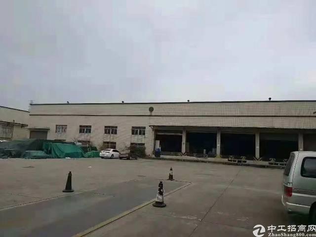 松岗高速出口十米高钢构喷淋厂房13000平低价出租