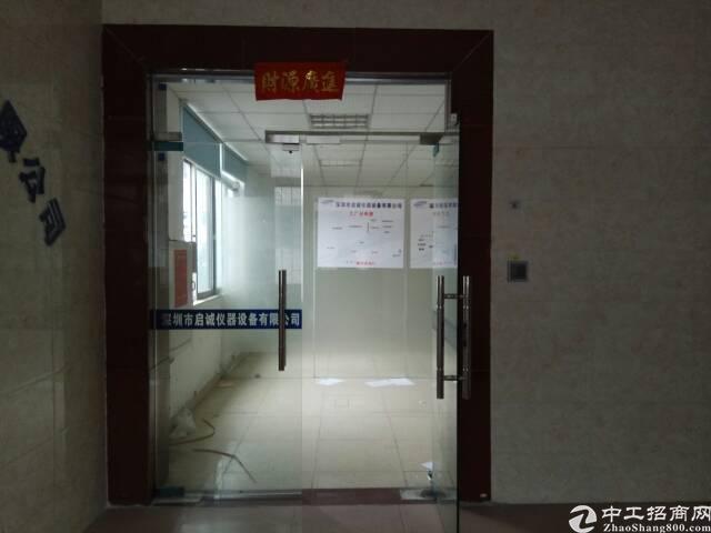 沙井南环路边上新出楼上750平标准厂房,带精装修、无转让费!