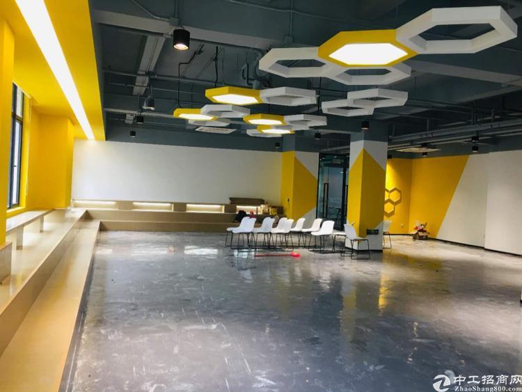 西乡银田创意园标准办公室户型方正带隔间3+1格局