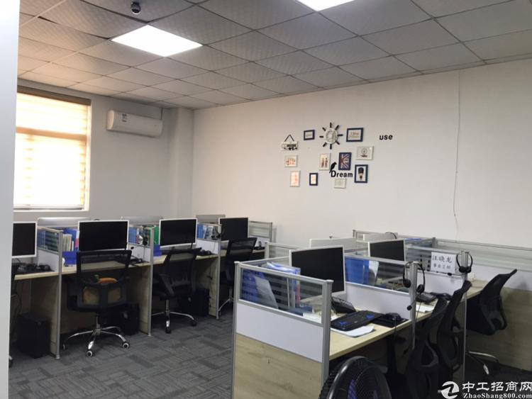 西乡精装写字楼113平二加一隔间办公家私齐全拎包入住