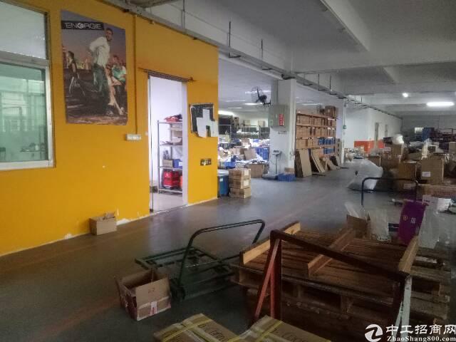 平湖华南城附近新出原房东4楼带精装修厂房1100平