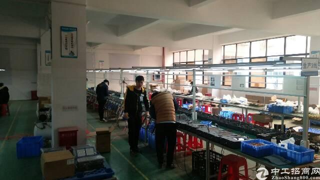 福永桥头宝安大道地铁口旁楼上1400平带装修厂房
