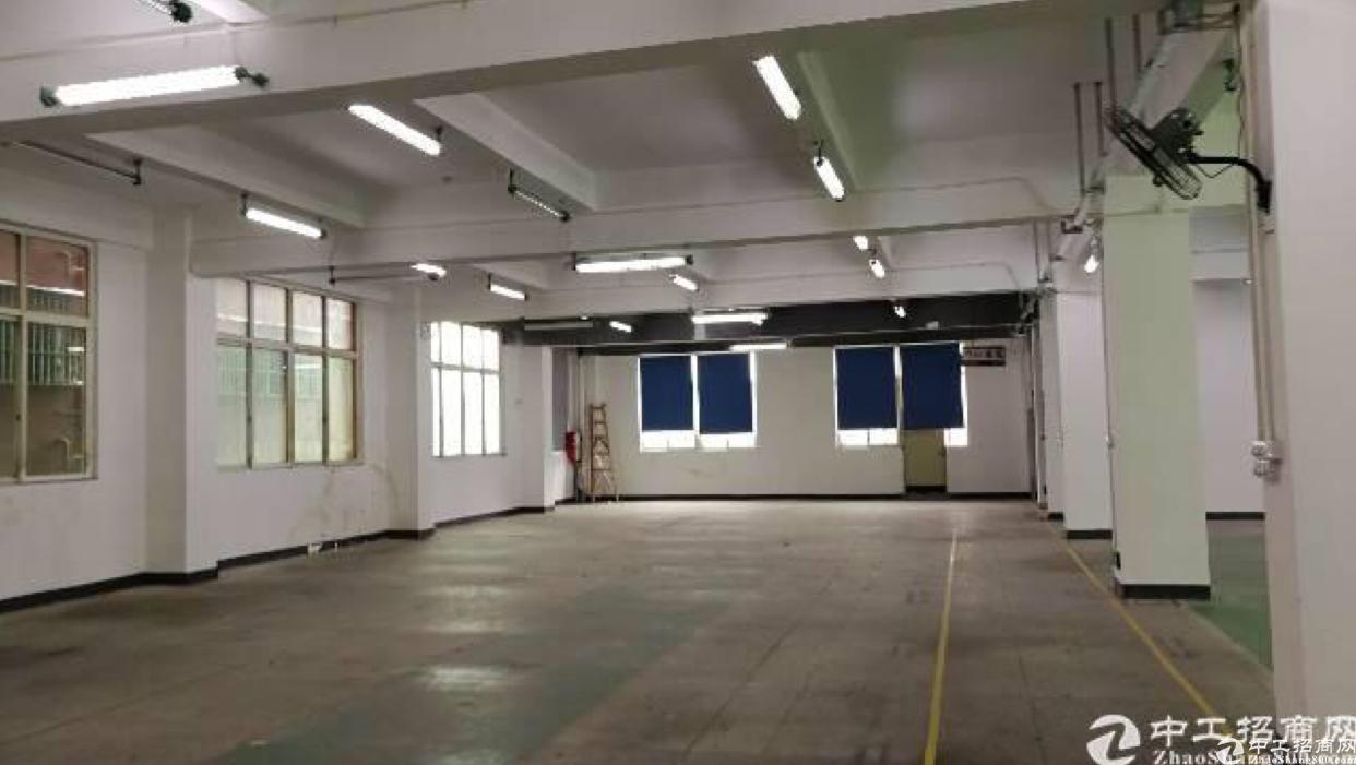 布吉杨美地铁口3楼整层1260平方精装修厂房出租,可以分租。