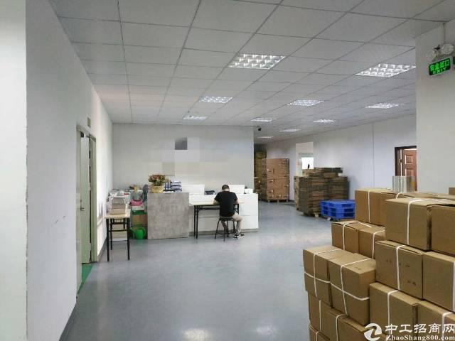 福永塘尾新出楼上整层1800平方带装修电子厂房出租