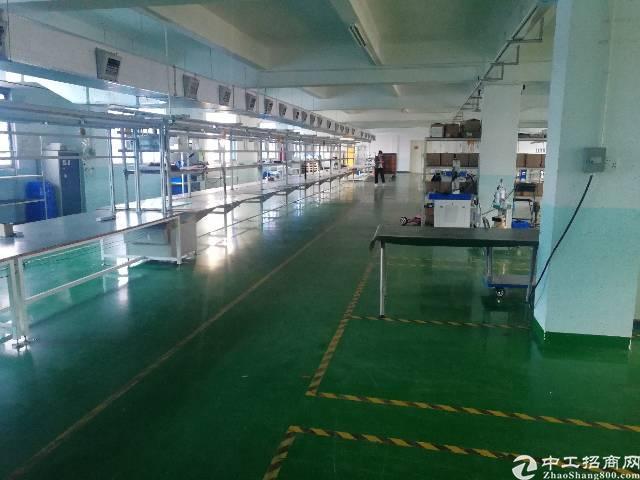 沙井沙头工业区二楼整层厂房1350平方出租带装修