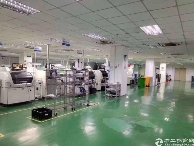 深圳沙井大王山工业园区新出装修2600平方厂房出租
