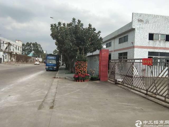 松岗南光高速旁原房东实际面积出租独院钢构厂房14000平米出