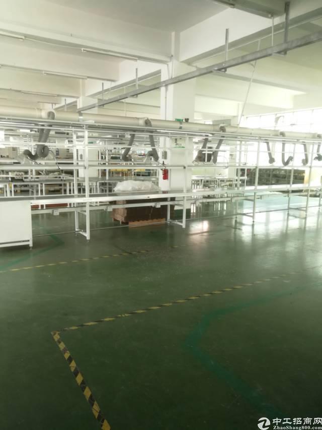横岗西坑二楼整层面积2500平米厂房带精装修招租
