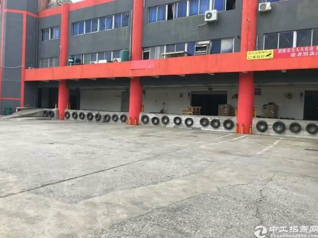 石岩塘头高速出口带卸货平台仓库4200平可分租