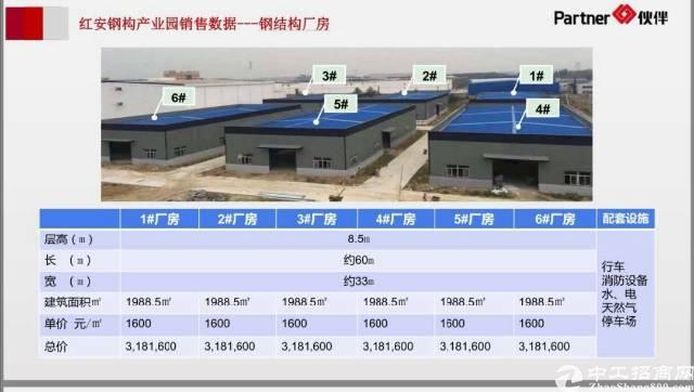 武汉红安临空区钢构独栋厂房招商食品/仓储/机械加工