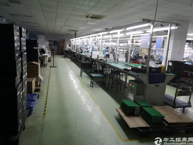 沙井京基百纳附近新出楼上带装修1050平米厂房出租