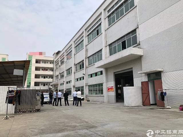 东莞石排独门独院标准厂房有消防喷淋、带2吨电梯共9900平方