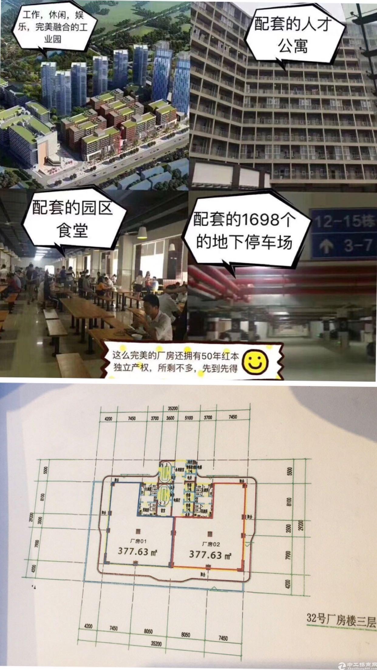 东莞精致全新可按揭,红本小厂房377方出售