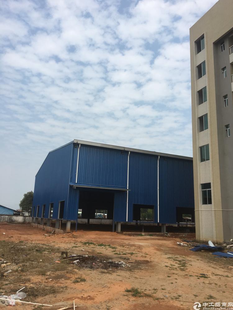 惠州博罗滴水11米带牛角钢结构独院厂房出租11000平方