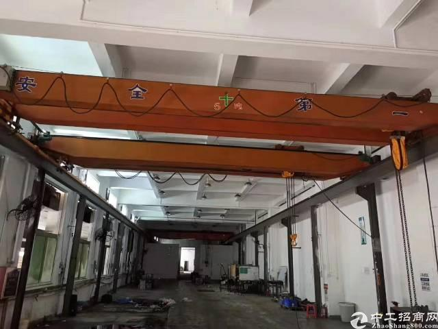 塘厦镇新出厂房标准厂房高10米带行车5吨可以做塑胶行业和模具