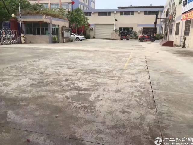公明原房东独院钢结构13200平米滴水高度10米厂房出租