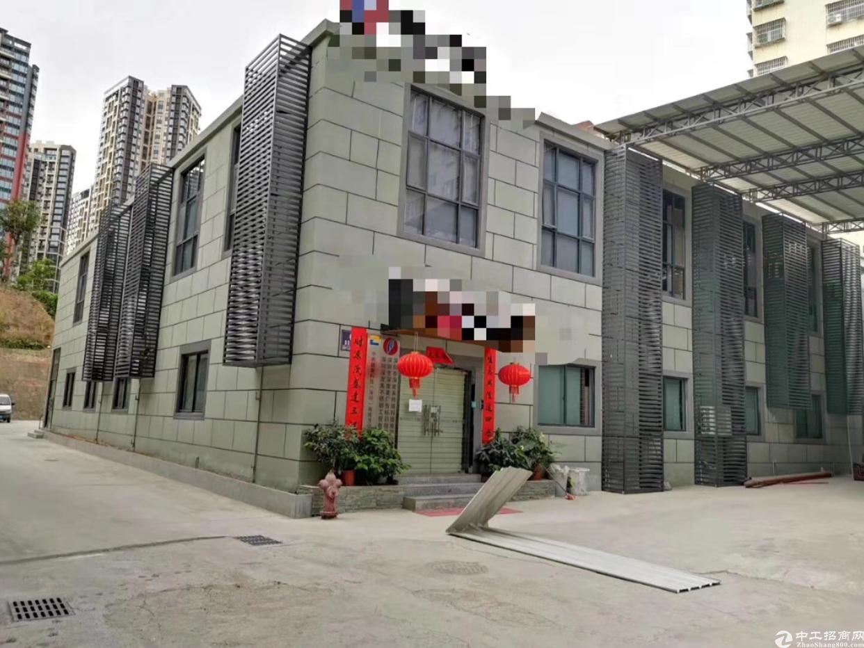 坂田华为旁边黄金山附近新出独栋厂房1-2层2000平方可分租