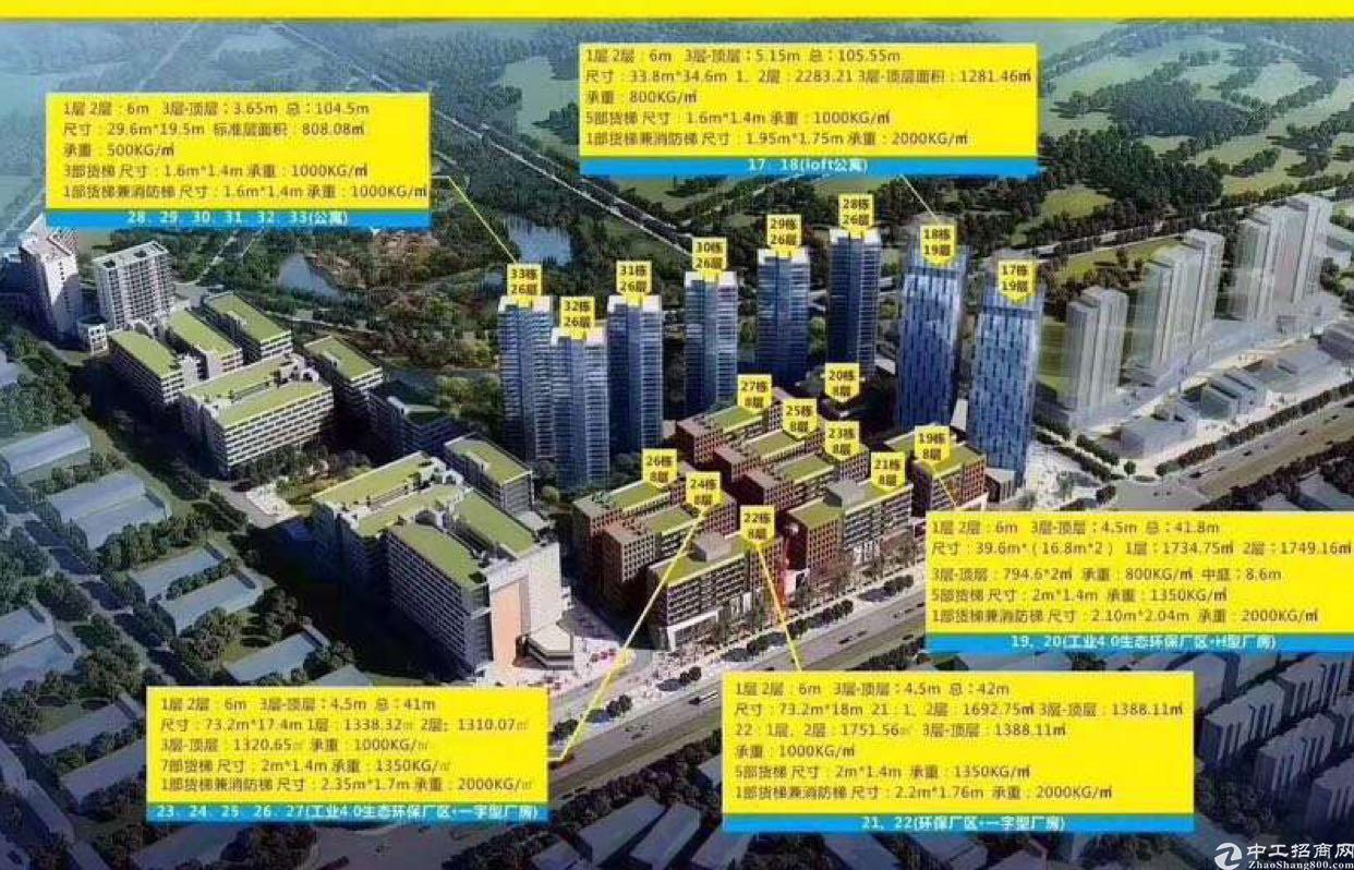 深圳红本厂房出售五万平方米、五百起分