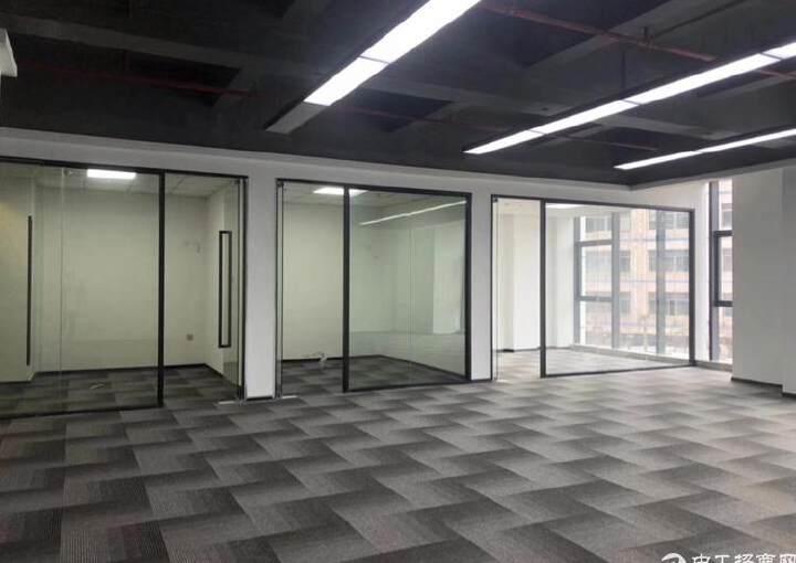 西乡固戍桦穗大厦全新精装修写字楼128平2+1格局图片4