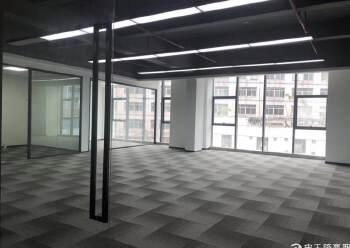 西乡固戍桦穗大厦全新精装修写字楼128平2+1格局图片2