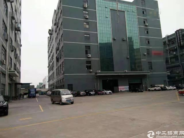 公明楼村龙大高速出口新出楼上2250平方带装修厂房出租