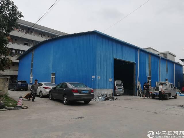 黄江板湖村铁皮厂房出租800平方滴水7米交通便利可以分租一楼