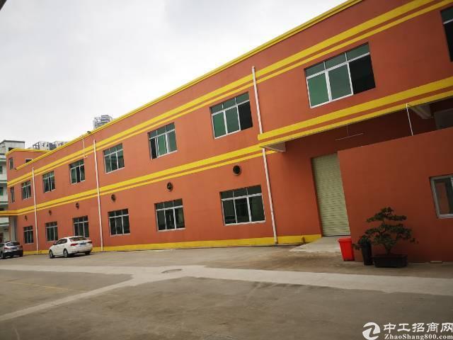 公明新出独栋厂房2800m²,一楼带牛角,精装修办公室