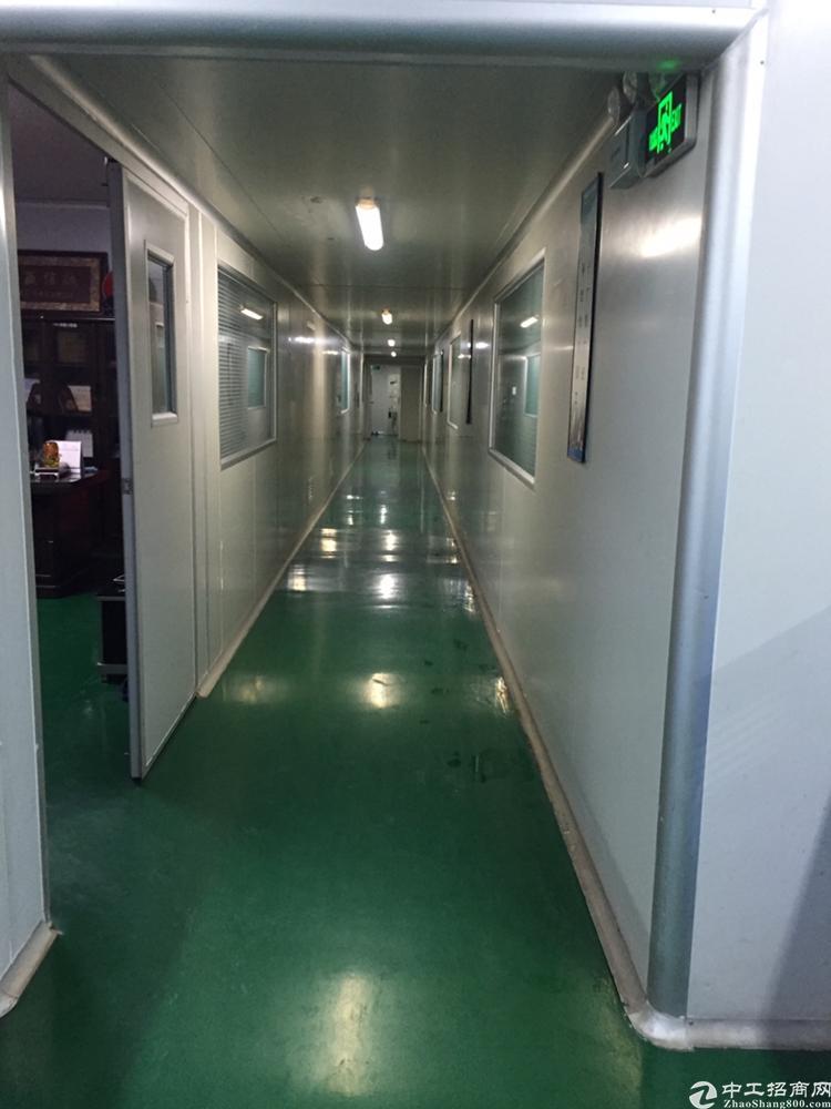 凤岗镇凤德岭工业区新出楼上1300平无尘车间出租