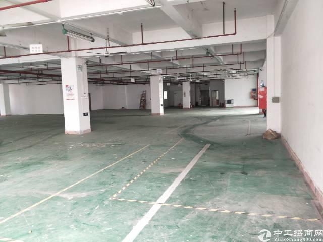 西乡固戍新出楼上1300平标准厂房出租