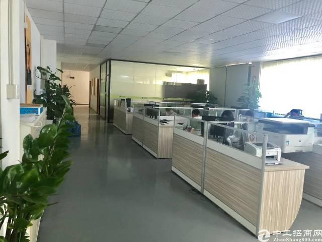 沙井后亭地铁口附近大型工业园二楼700平方精装修厂房招租