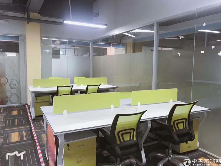 龙华地铁口边带现成装修办公室出租,120平起租
