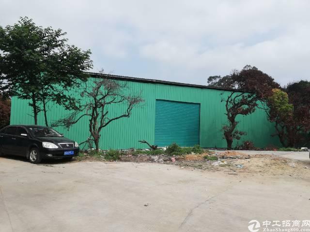 黄江镇靠山钢构铁皮房1000平方可做污染独栋厂房出租可分租